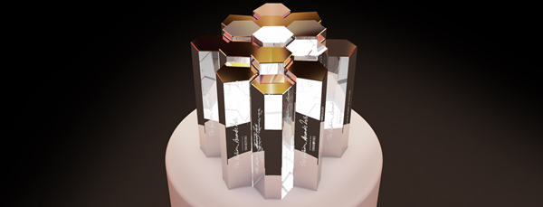 The Fashion Awards 2016 trophy designed by Marc Newson for Swarovski