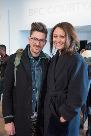 official photos ab337 38bba Natalie Massenet (BFC Chairman) and James McArthur (CEO, Anya Hindmarch    BFC Business Pillar President) with designer business mentors at the  official ...