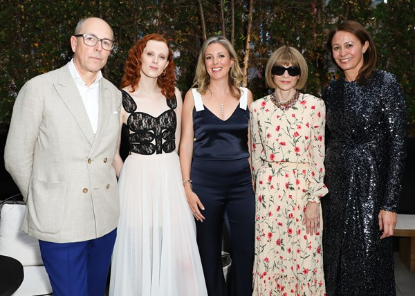 British Garden Party at Times Square, New York, hosted by the British Fashion council & Karen Elson